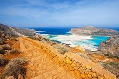 Bella spiaggia nella laguna di Balos, Creta Fotografia Stock Libera da Diritti