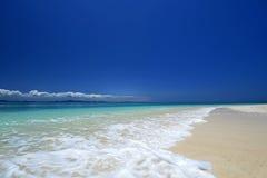 Bella spiaggia in Okinawa Fotografie Stock Libere da Diritti