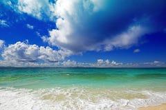 Bella spiaggia in Okinawa Immagine Stock