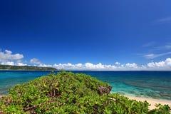 Bella spiaggia in Okinawa Fotografia Stock Libera da Diritti