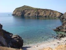 Bella spiaggia privata in Grecia fotografia stock