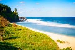 Bella spiaggia sabbiosa di Gris Gris Fotografie Stock