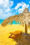 Bella spiaggia in Santa Lucia Fotografia Stock