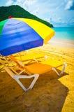 Bella spiaggia in Santa Lucia Fotografie Stock Libere da Diritti