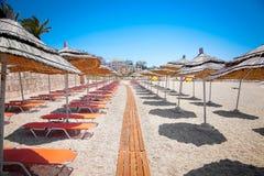 Bella spiaggia in Saranda, Albania Fotografia Stock Libera da Diritti