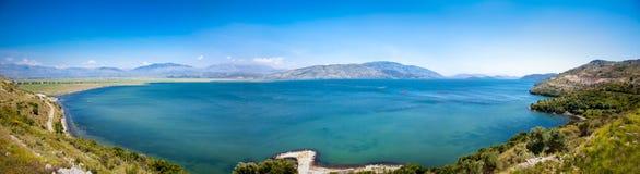 Bella spiaggia in Saranda, Albania Fotografia Stock