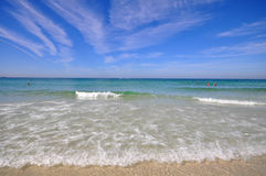 Bella spiaggia sotto il sole Immagine Stock Libera da Diritti