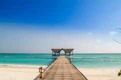 Bella spiaggia tropicale Immagini Stock