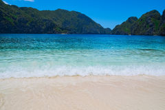 Bella spiaggia tropicale Fotografia Stock