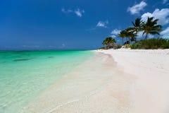 Bella spiaggia tropicale ai Caraibi fotografie stock