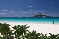 Bella spiaggia tropicale all'isola di Similan, Tailandia Fotografie Stock