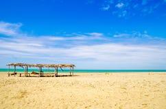 Bella spiaggia tropicale nella costa dell'Ecuador Immagine Stock Libera da Diritti