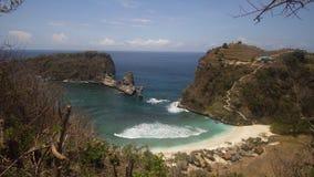 Bella spiaggia tropicale Nusa Penida fotografia stock