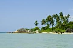 Bella spiaggia tropicale su Ko Pha Ngan fotografia stock libera da diritti
