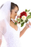 Bella sposa asiatica alla cerimonia nuziale Fotografie Stock