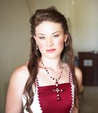 Bella sposa con capelli lunghi Fotografia Stock Libera da Diritti