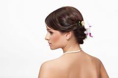 Bella sposa con il fiore Fotografia Stock