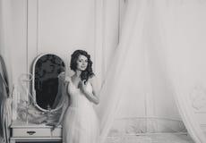 Bella sposa del brunette Fotografie Stock Libere da Diritti