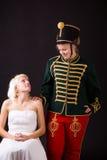 Bella sposa e ussaro Immagine Stock Libera da Diritti