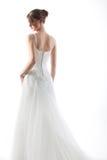 Bella sposa in un vestito da cerimonia nuziale lussuoso Immagini Stock Libere da Diritti