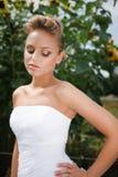 Bella sposa in vestito bianco immagini stock libere da diritti