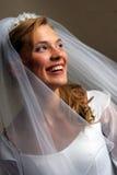 Bella sposa in vestito bianco fotografia stock