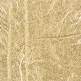 Bella stagnola increspata dorata Immagini Stock Libere da Diritti