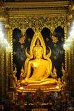 Bella statua di Buddha Chinnaraj Fotografie Stock Libere da Diritti