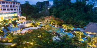 Bella stazione balneare nel Panama Immagini Stock