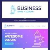 Bella strategia di marca commerciale di concetto di affari, scacchi, cavallo, kn royalty illustrazione gratis