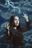 Bella strega della tempesta Fotografia Stock Libera da Diritti