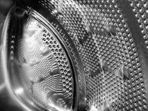 Bella struttura del fusto metallico della lavatrice immagini stock libere da diritti
