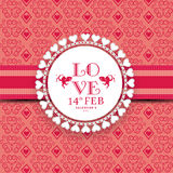 Bella struttura per la celebrazione felice di giorno di biglietti di S. Valentino Fotografia Stock
