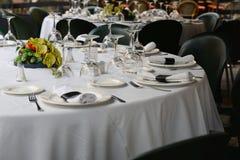Bella tavola decorata di nozze Fotografia Stock Libera da Diritti
