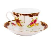 Bella tazza con il piattino fotografia stock