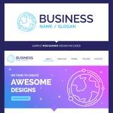 Bella terra di marca commerciale di concetto di affari, globo, mondo, geogr illustrazione vettoriale