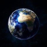 Bella terra nello spazio royalty illustrazione gratis