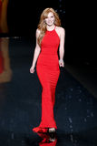 Bella Thorne. NEW YORK-FEB 6: Actress Bella Thorne wears Badgley Mischka on the runway at Go Red for Women The Heart Truth Red Dress Collection fashion show royalty free stock photo