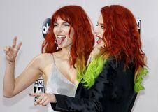 Bella Thorne and Dani Thorne. At the 2016 American Music Awards held at the Microsoft Theater in Los Angeles, USA on November 20, 2016 royalty free stock image