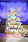 Bella torta di cerimonia nuziale fotografia stock