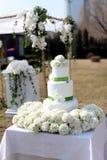 Bella torta nunziale Fotografia Stock