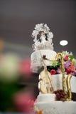 Bella torta nunziale con spazio Fotografia Stock Libera da Diritti