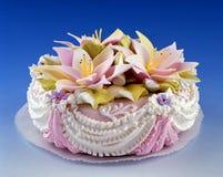 Bella torta romantica Fotografia Stock Libera da Diritti