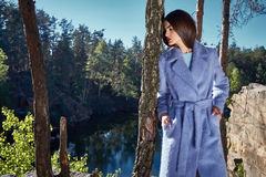 Bella usura sexy del modello di moda di fascino della donna alla moda Immagine Stock Libera da Diritti