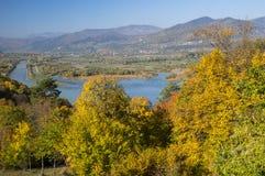 Bella valle in autunno Fotografia Stock