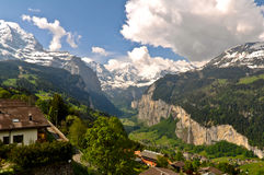 Bella valle della montagna Fotografia Stock