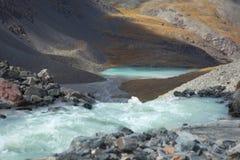 Bella valle della montagna Immagini Stock