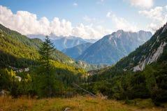 Bella valle di Soca in alpi slovene Fotografie Stock Libere da Diritti