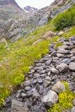 Bella valle nelle alpi europee Fotografie Stock Libere da Diritti
