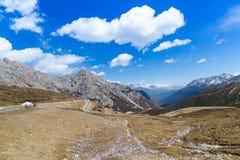 Bella valle sull'alto punto di vista Fotografia Stock Libera da Diritti